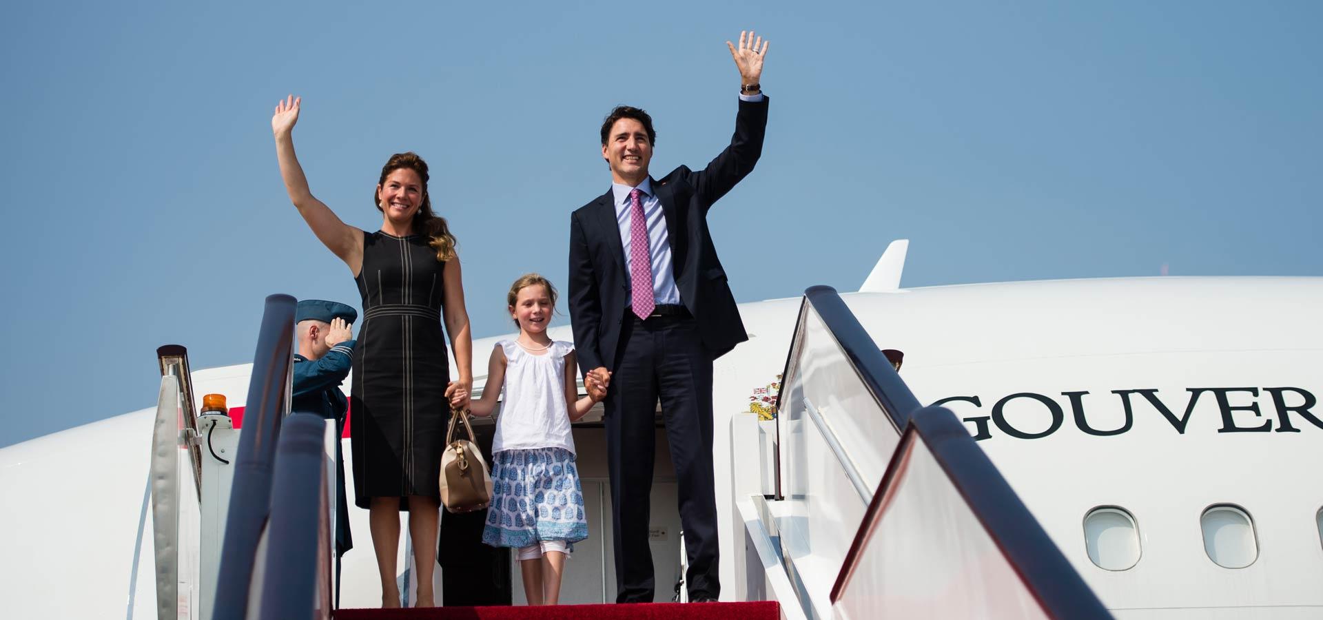 加拿大總理特魯多抵達杭州