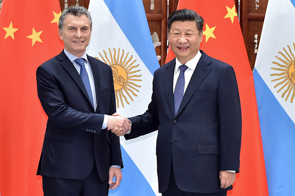 習近平會見阿根廷總統馬克裏