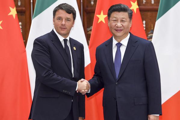 習近平會見意大利總理倫齊