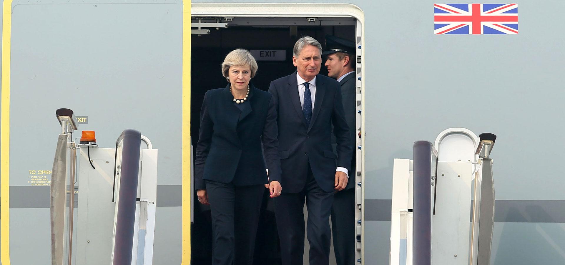 英國首相特雷莎·梅抵達杭州