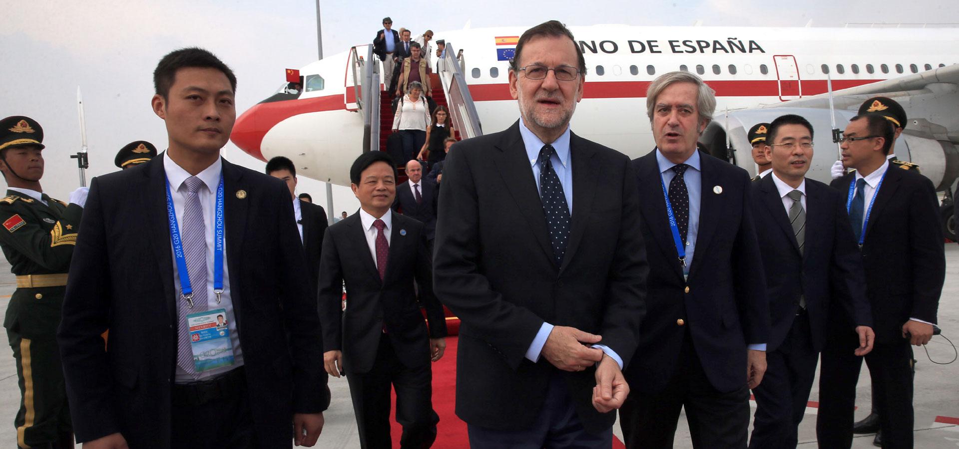 西班牙首相拉霍伊抵達杭州
