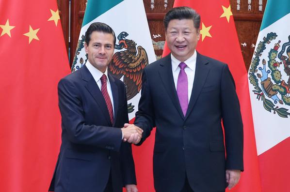 習近平會見墨西哥總統培尼亞