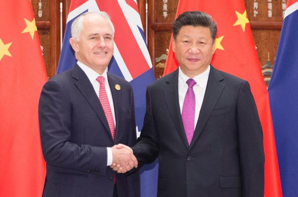 習近平會見澳大利亞總理特恩布爾