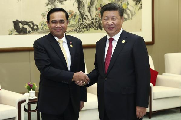 習近平會見泰國總理巴育