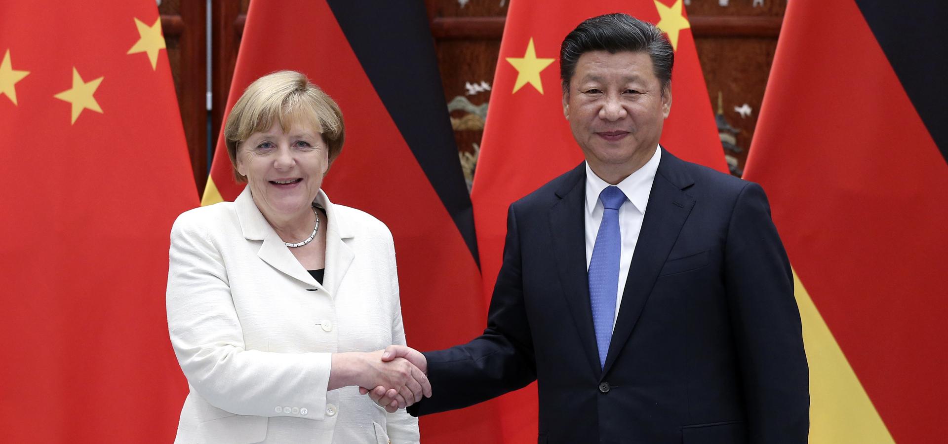 習近平會見德國總理默克爾