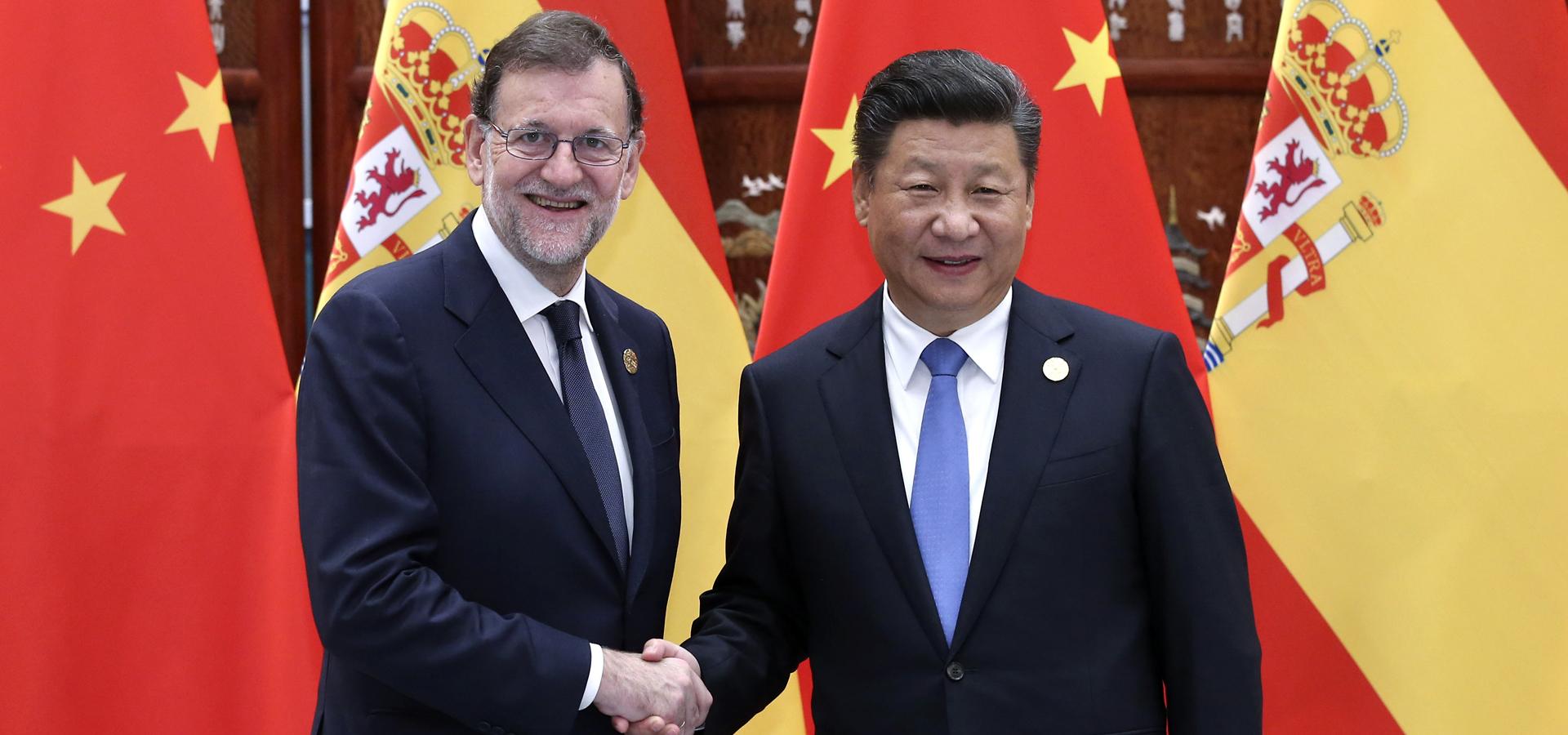 習近平會見西班牙首相拉霍伊