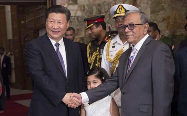習近平會見孟加拉國總統