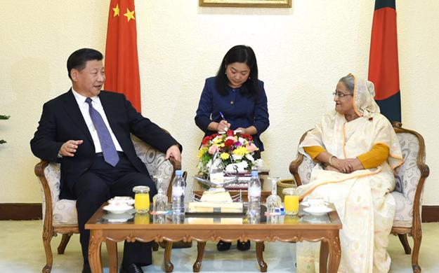 習近平同孟加拉國總理舉行會談 決定將中孟關係提升為戰略合作夥伴關係