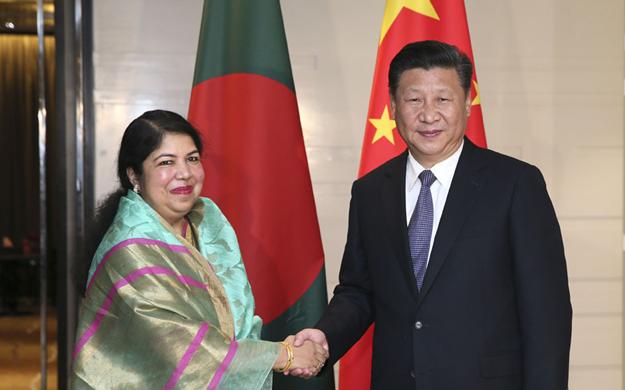 習近平會見孟加拉國國民議會議長