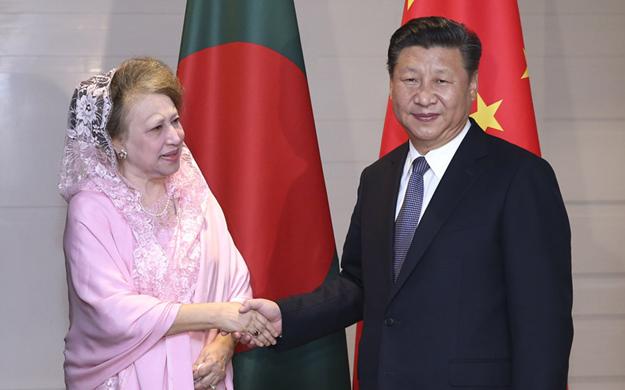 習近平會見孟加拉國民族主義黨主席