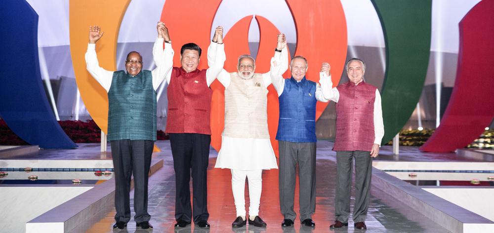 習近平出席印度總理莫迪為金磚國家領導人舉行的非正式晚宴
