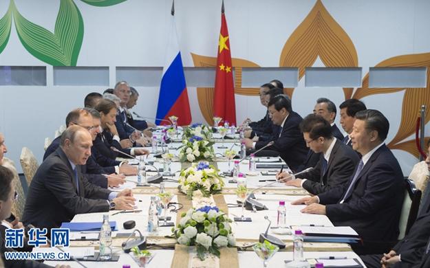 習近平會見俄羅斯總統