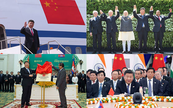 習近平訪問柬孟兩國並赴印度出席金磚峰會精彩圖集