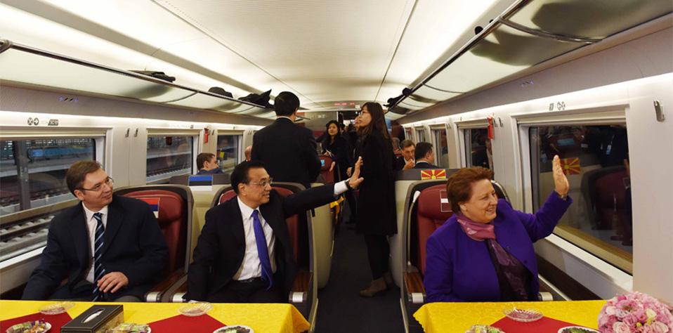 【資料】李克強邀請中東歐國家領導人共乘高鐵
