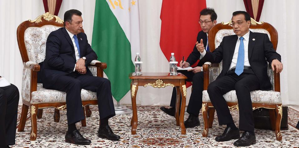 李克強會見塔吉克斯坦總理拉蘇爾佐達