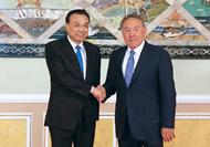 李克強會見哈薩克斯坦總統