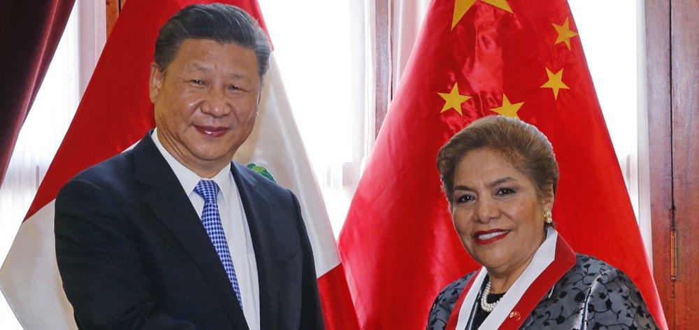 習近平會見秘魯國會主席薩爾加多