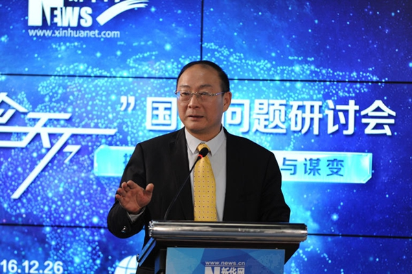 中國人民大學國際關係學院副院長金燦榮發言