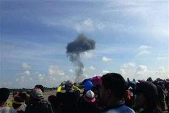 泰國空軍一戰機墜毀
