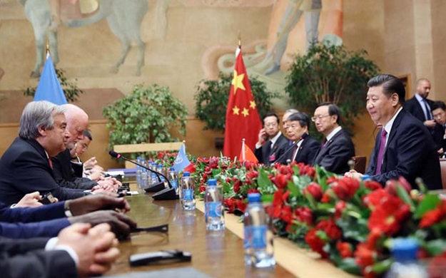 習近平會見第71屆聯合國大會主席和聯合國秘書長