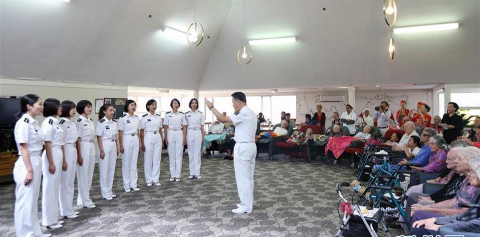 中國海軍鄭和艦訪問新西蘭