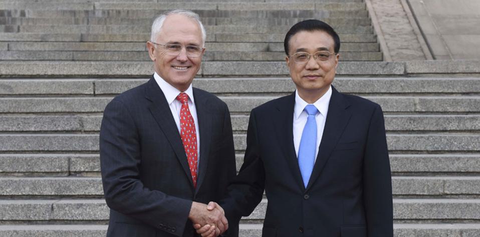 【資料】2016年4月14日:中澳總理舉行年度會晤