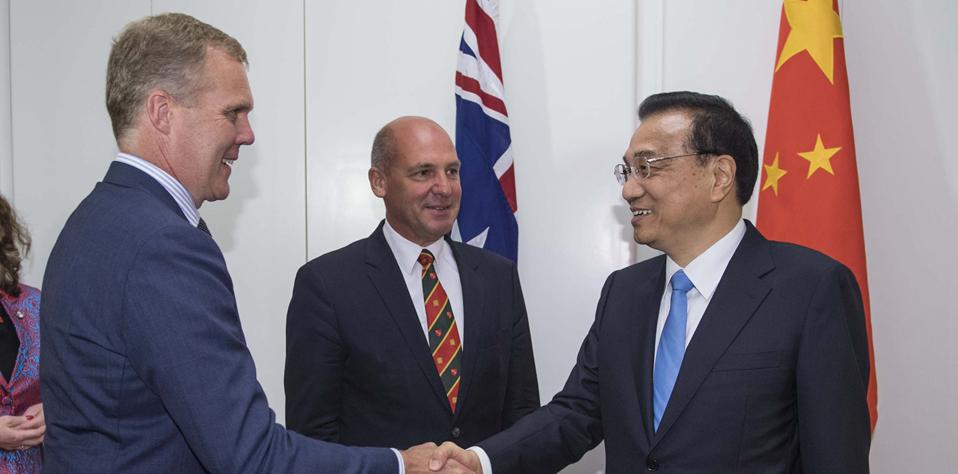 李克強會見澳大利亞聯邦議會參議長帕裏、眾議長史密斯