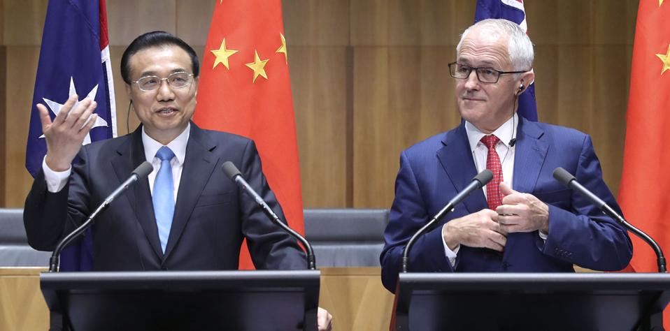 李克強同澳大利亞總理特恩布爾共同會見記者