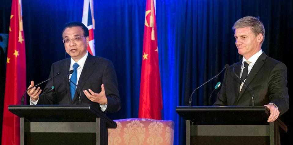 李克強同新西蘭總理英格利希共同會見記者