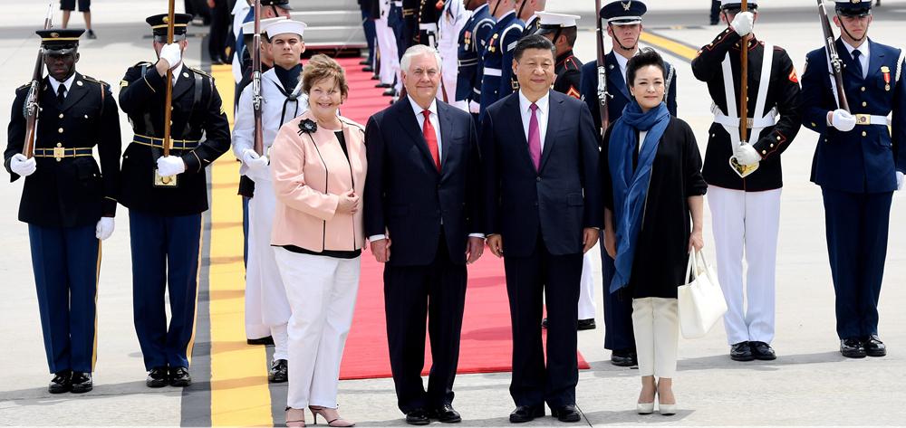 習近平抵達美國佛羅裏達州 將同特朗普舉行中美元首會晤