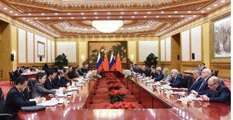 張德江與俄羅斯國家杜馬主席納雷什金舉行會談