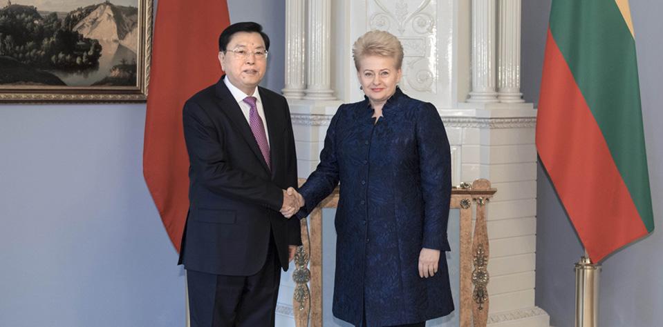 張德江對立陶宛進行正式友好訪問