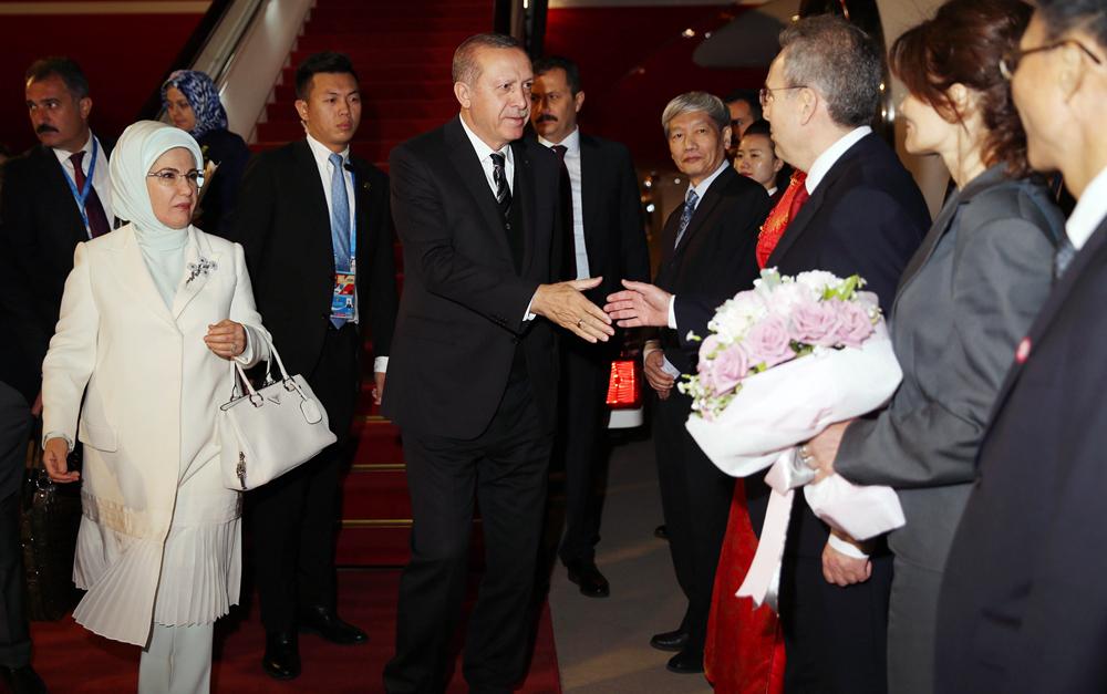 土耳其总统埃尔多安抵达北京
