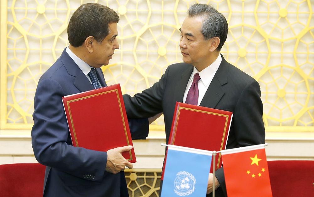 王毅会见联合国文明联盟高级代表