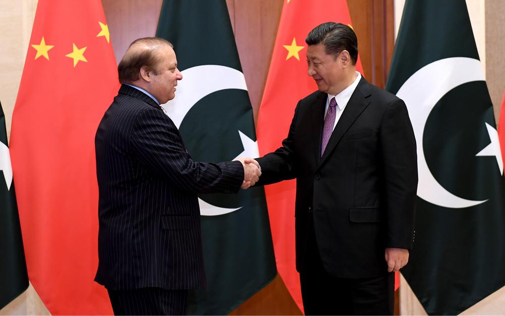 习近平会见巴基斯坦总理谢里夫