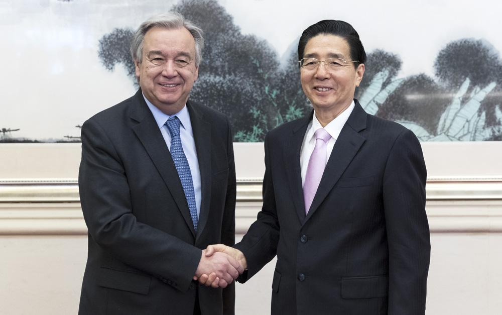郭声琨会见联合国秘书长古特雷斯