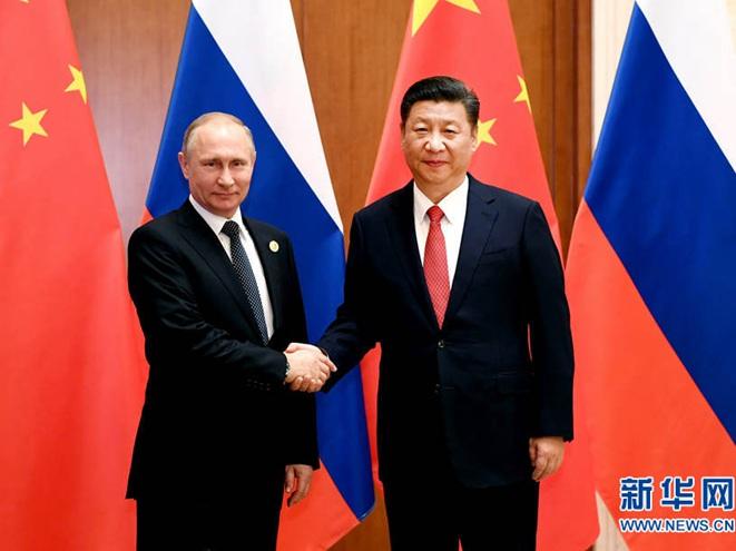 习近平会见俄罗斯总统