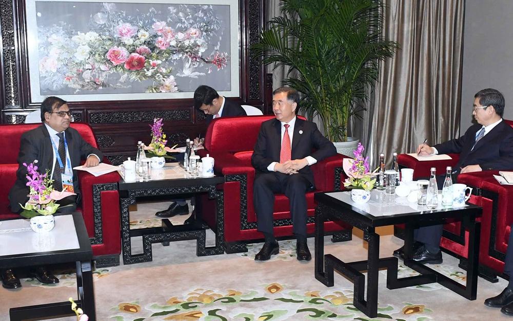 汪洋会见尼泊尔副总理