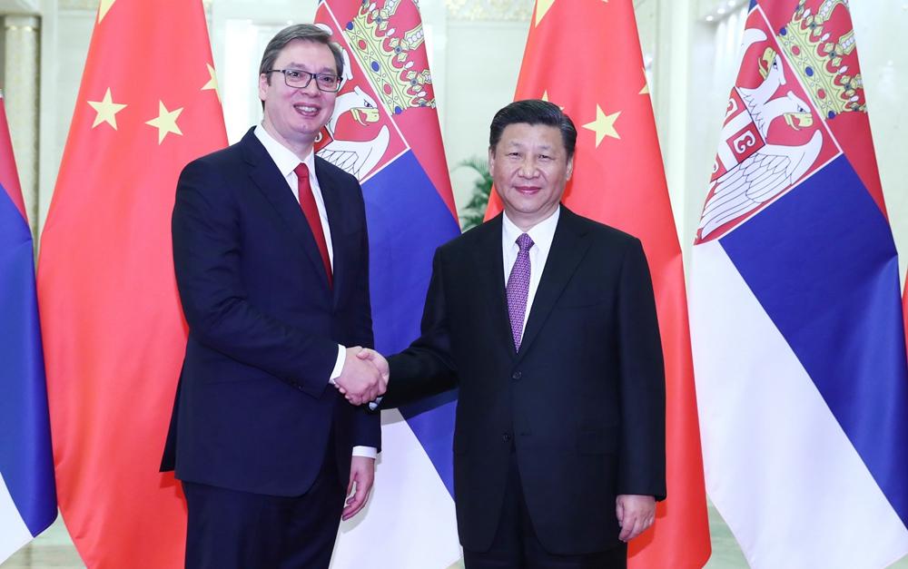 习近平会见塞尔维亚总理、当选总统武契奇