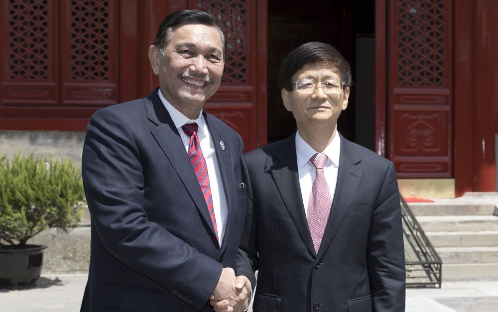 孟建柱会见印尼海洋统筹部长卢胡特