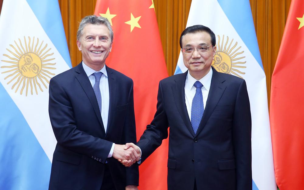 李克强会见阿根廷总统马克里