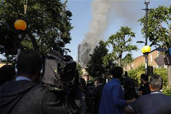 倫敦一高層建築發生火災