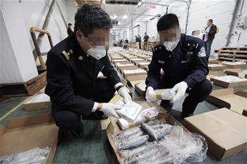 中柬合作查獲走私可卡因1.1噸