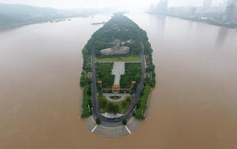 長沙湘江突破36米警戒水位
