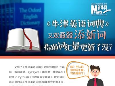 《牛津英语辞书》又双叒叕添新词