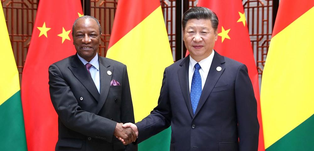 習近平會見幾內亞總統孔戴