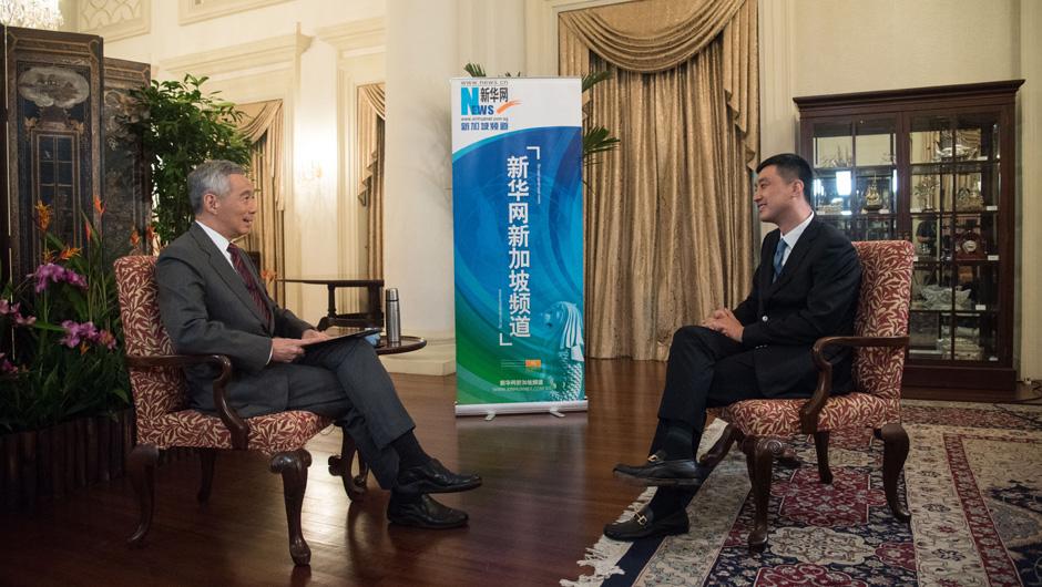 新华网专访新加坡总理李显龙
