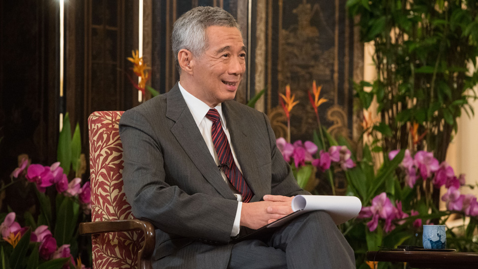 新華網專訪新加坡總理李顯龍
