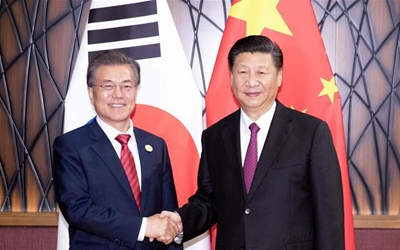 習近平會見韓國總統