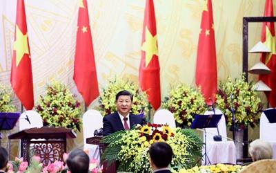 習近平出席越共中央總書記和越南國家主席共同舉行的歡迎宴會
